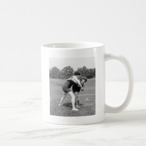 Cat Fight, early 1900s Mugs
