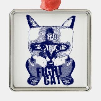 Cat Fight Metal Ornament