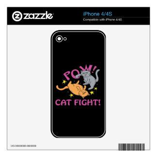 Cat Fight iPhone 4 Skin