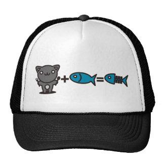 Cat + Fish = Bone Trucker Hat