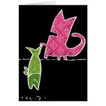 Cat+fish Greeting Card