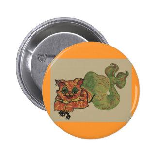 cat fish pinback button