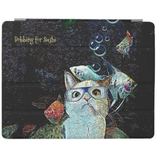 Cat Fish Sushi Funny Horizontal iPad Smart Cover