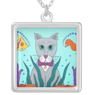 Cat Fish Tank Necklace