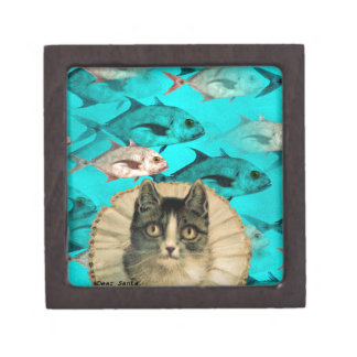 Cat Fish You Digital Collage Premium Gift Boxes