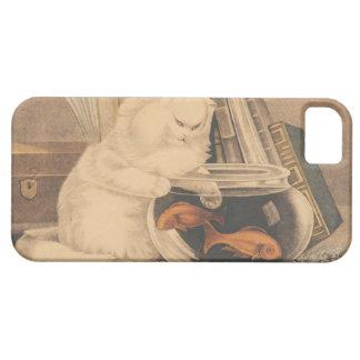 Cat Fishing by E.B. & E.C. Kellogg iPhone SE/5/5s Case
