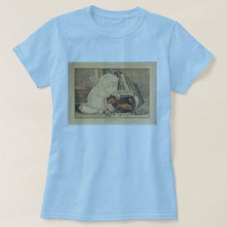 Cat Fishing by E.B. & E.C. Kellogg T-Shirt