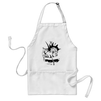 Cat Fishing For Food Aprons