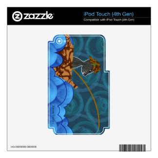 Cat Fishing MP3 Skin Skins For iPod Touch 4G