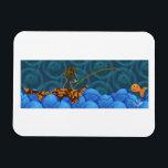 "Cat Fishing Rectangle Magnet<br><div class=""desc"">A cat fishing for his dinner.</div>"