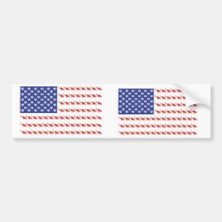 Cat-Flag-Tee Bumper Stickers