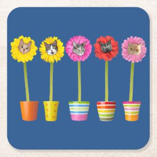 """""""Cat Flower"""" Garden LOL Funny Coasters"""