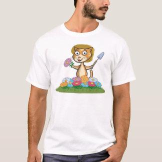Cat Flower Gardener T-Shirt
