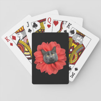 """""""Cat Flower"""" Playing Cards, Standard Index faces Playing Cards"""