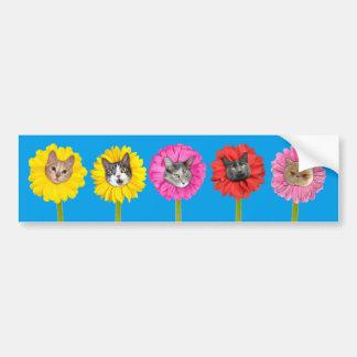 """""""Cat Flowers"""" Garden LOL Funny Bumper Sticker"""