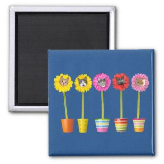 """""""Cat Flowers"""" Garden LOL Funny Fridge Magnet"""