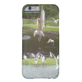 Cat flying a Seagull Barely There iPhone 6 Case