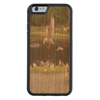Cat flying a Seagull Carved® Cherry iPhone 6 Bumper Case
