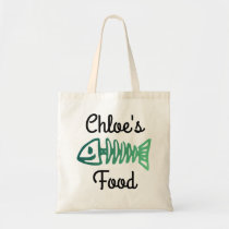Cat Food Bag Tote with Fish Bone