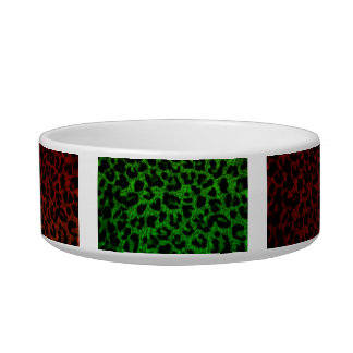 Cat Food Bowl~Colorful Leopard Print Bowl