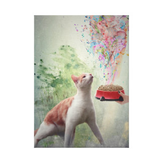 Cat Food Canvas Print