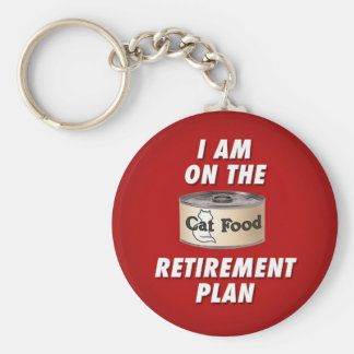 Cat Food Retirement Plan key chain