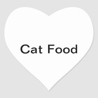 Cat Food Stickers