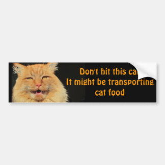 Cat Food Transport Vehicle Car Bumper Sticker