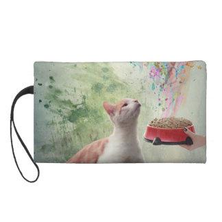 Cat Food Wristlet Purse