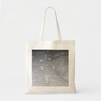 Cat Footprints in snow Tote Bag
