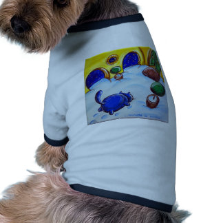 Cat Footprints In The Snow Dog Shirt
