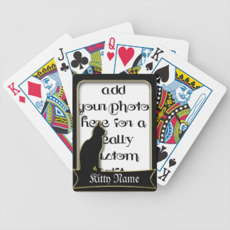 Cat Frame Keepsake Photo Template Playing Cards