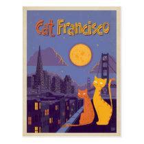 Cat Francisco Postcard