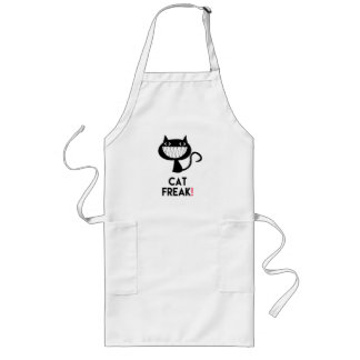 Cat Freak! Fun Long Apron
