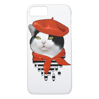 cat Frenchman iPhone 7 Case
