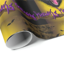 CAT FRIDAY 13 CARTOON Wrapping Paper