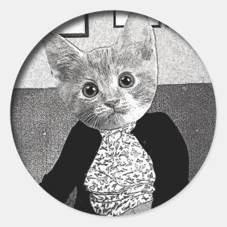 Cat Friend Classic Round Sticker