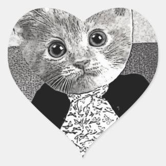 Cat Friend Heart Sticker