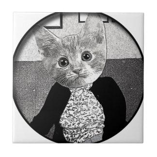 Cat Friend Ceramic Tile