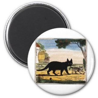 Cat Friends Artwork 2 Inch Round Magnet
