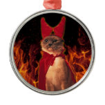 Cat From Hell Metal Ornament