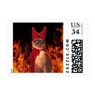 Cat From Hell Postage