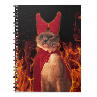 Cat From Hell Spiral Notebook