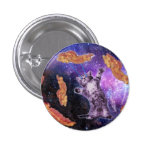 Cat Frying Bacon With Eye Laser 1 Inch Round Button
