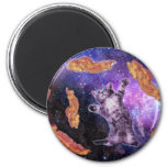 Cat Frying Bacon With Eye Laser 2 Inch Round Magnet
