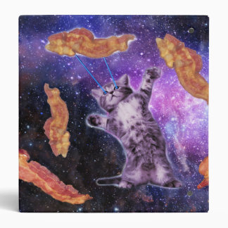 Cat Frying Bacon With Eye Laser Binder