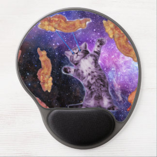 Cat Frying Bacon With Eye Laser Gel Mouse Pad