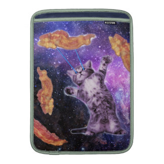 Cat Frying Bacon With Eye Laser MacBook Sleeves