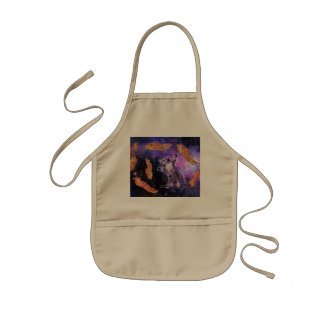 Cat Frying Bacon With Eye Laser Kids' Apron