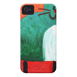 Cat fun drawing painting art handmade Case-Mate iPhone 4 case